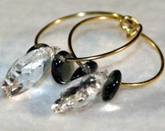 Crystal Hooped Earrings