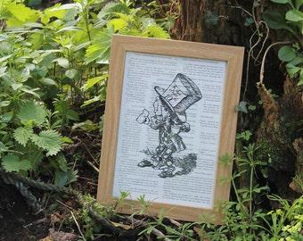 Mad Hatter papercut - Alice's adventures in wonderland - framed papercut -