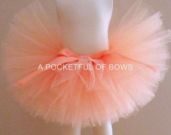 Peach Tutu Skirt, Toddler Tutu, Peach Birthday Tutu