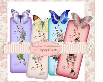 Butterfly Bookmarks Digital Download