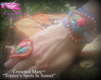Topper's Spots In Sunset. BRACELET. Stunning Clay Jewelry that you'll wear again and again!  BRACELET