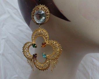 Vintage Filigree Earrings from the 1980.s