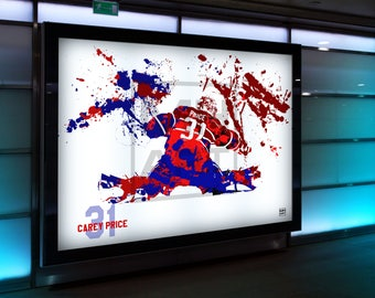 Carey Price Digital Print. Ice Hockey. Hockey. Montreal Canadiens. Montreal. Stanley Cup. Wall Art. Poster. Gift.