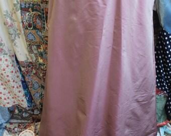 dusky pink lined evening skirt REF502