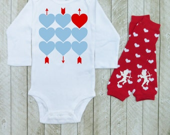 Baby boys valentines day outfit - Boys valentines day outfit - Baby boys first valentines day outfit - My first valentines day outfit