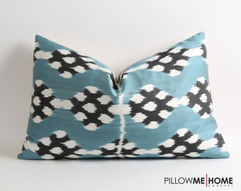 Silk ikat pillow cover // handwoven pillow // 16x24 inches