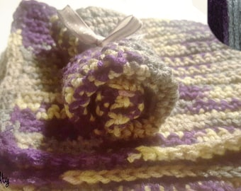 Dishcloth with strong chunky pattern