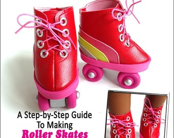 Pixie Faire Miche Designs Roller Skates Doll Clothes Pattern for 18 inch American Girl Dolls - PDF