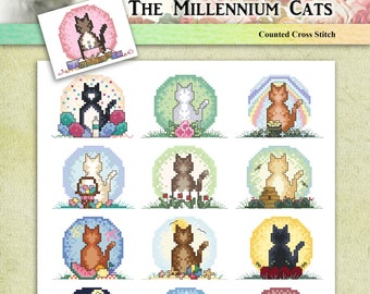 The Millennium Cats Counted Cross Stitch Pattern