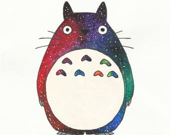 My Neighbor Totoro Watercolor 8x10