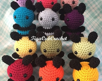 Crochet Small Bumble Bee Striped Insect Animal Cute Amigurumi Plush Made To Order