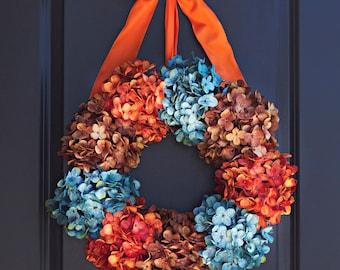 Fall Hydrangea Wreath - Thanksgiving Wreath - Fall Wreath -Fall Wreath for Door - Autumn Home Decor - Front Entryway - Front Porch Wreath