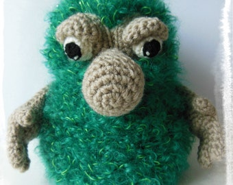 Crochet pattern Papou the Monster - Amigurumi