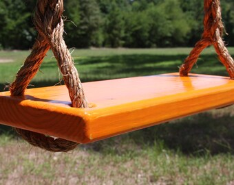 Wooden Orange Tree Swing, Double Rope
