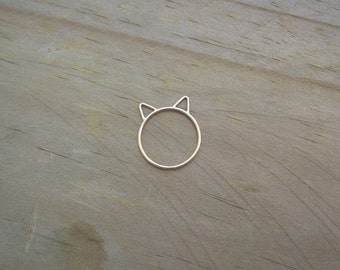 Rose gold cat ring Etsy