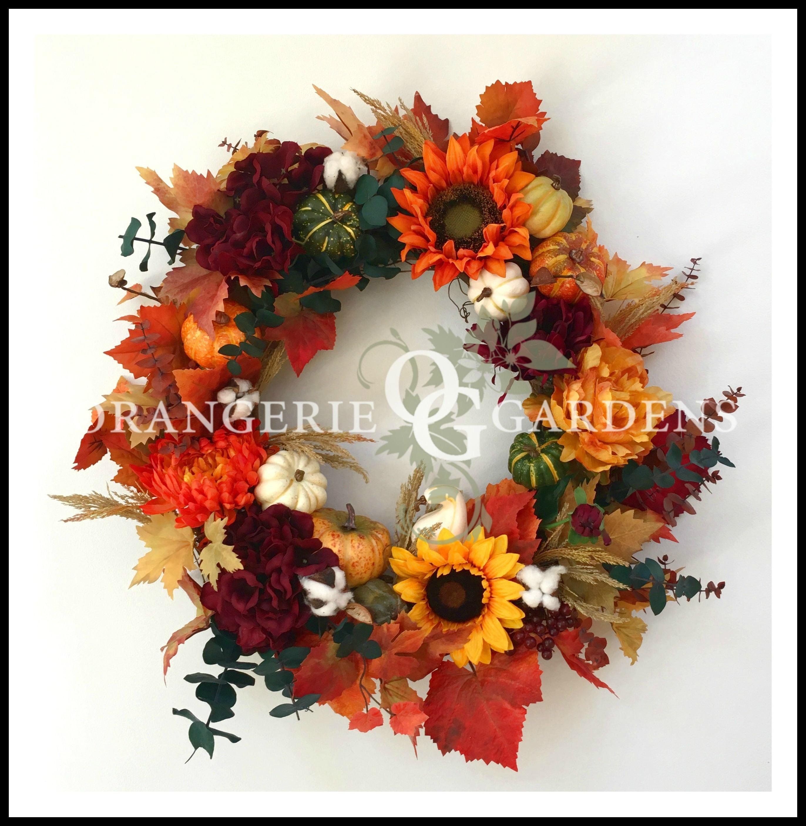 Thanksgiving Wreath, Fall Sunflower Wreath, Fall Season Door Wreath, Rustic  Seasonal Door Decor, Autumn Wreath, Front Door Wreath