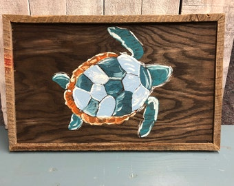 Hand Painted Turtle