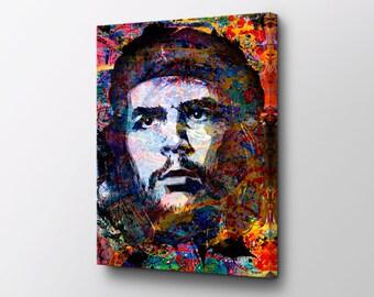 Che Guevara - Pop Culture Canvas Art - Paint Splatter Original design by Epik - Ready to Hang Modern Art