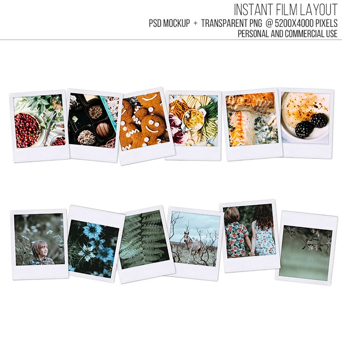 VENTA! Plantilla de marco Polaroid. Maqueta en PSD, PNG, imprimibles ...