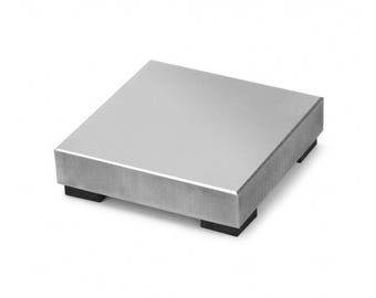 Small Steel Block, block with rubber feet, stamping steel block, small stamping block, Block w/rubber feet, metal stamping block, 2x2 block