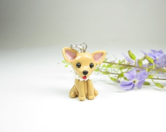 Chihuahua Necklace pendant - dog jewelry ,miniature animal dog bow, chihuahua jewelry, gift for her, dog lover gift, dog charm
