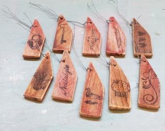 Tags. Handmade Tags. Gift Tags. Handmade Gift Tags. Wooden Gift Tags. Primitive Gift Tags. Wooden Tags. French Tag. Rustic Tag. Shabby Chic