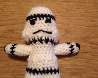 Crochet stormtrooper doll