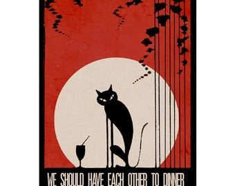 Love Cats The Cure inspired Art Print