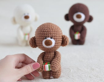 Christmas teddy bears team with gift boxex - small teddy bear, personalized bear gift, birthday bear, Valentine teddy bear READY TO SHIP