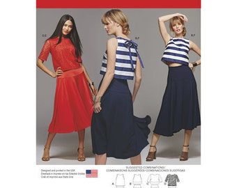 OUT of PRINT Simplicity Pattern 8128 Misses' Two Piece Dress