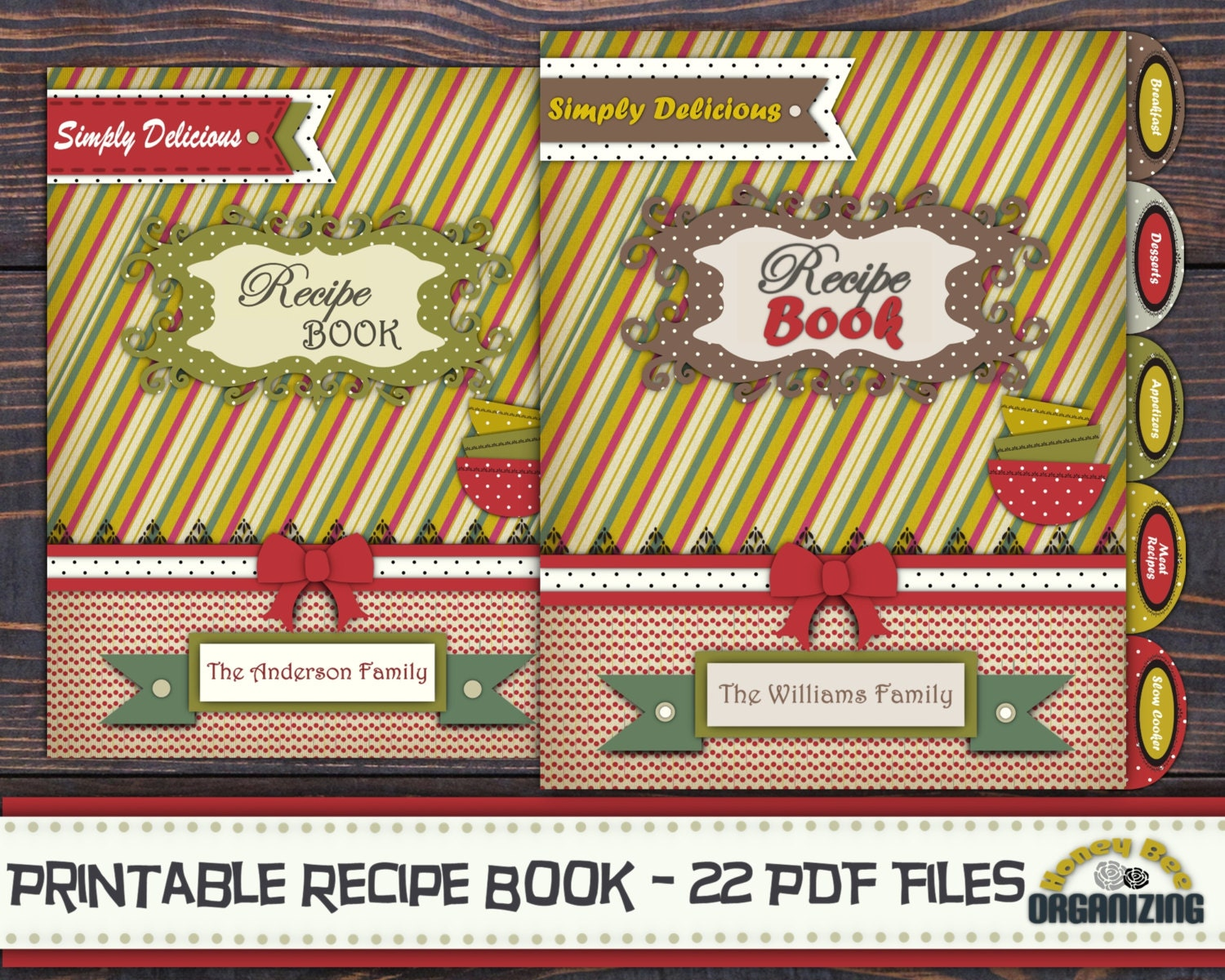 Recipe Book Cover Printable Template : Diy printable recipe book templates pdf