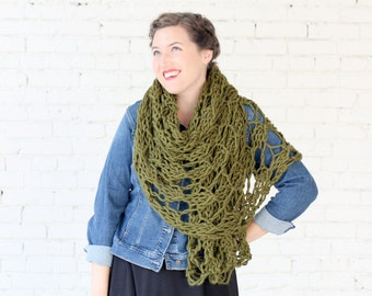 THE WISTERIA WRAP | 22 Color Choices | Chunky Knit Oversized Winter Wrap Scarf
