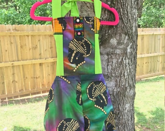 Girls African romper, girls romper, girls tribal romper, baby sunsuit, baby girl, boho baby, girls sunsuit