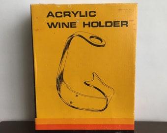 Vintage Acrylic Wine Bottle Holder FREE SHIPPING