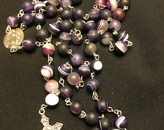 Purple Striped Rosary