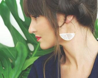 Keep Dancing Capiz Shell Half Moon Earrings