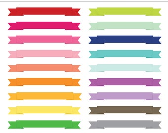 Ribbon Banner Frames, Labels, Tags - 20 Pieces for Personal & Commercial Use - INSTANT DOWNLOAD