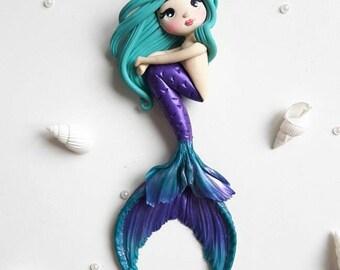 OOAK mermaid/siren keychain/bagcharm/pendant