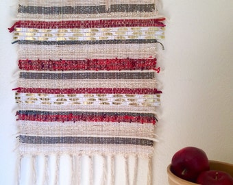 Golden Feather handwoven wall hanging