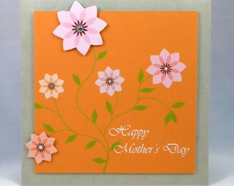 Orange and pink-Happy Mother's day card