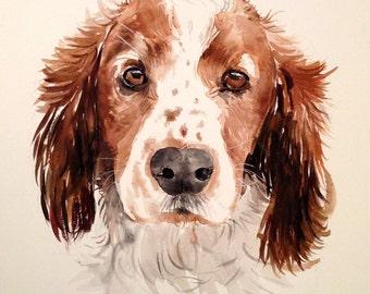 Custom pet portrait. Original watercolor painting. Dog portrait. Pet portrait. Pet portrait comission. Dog lover. Dog art