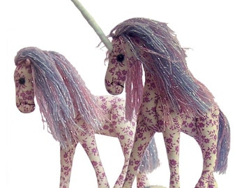 Starlight, unicorn and horse soft toy sewing pattern