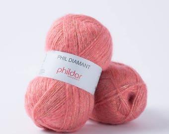 lurex yarn phildar PHIL diamond eyelet color