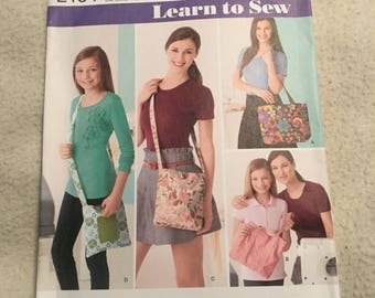 Simplicity learn to sew tote bag pattern