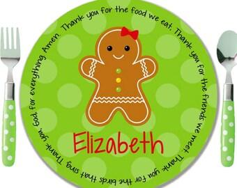 Personalized Melamine Plate - Personalized Kids Plate - Personalized Christmas Plate - Kids Holiday Plate -  sc 1 st  Etsy & Personalized Christmas Plate Kids Melamine Plate Child
