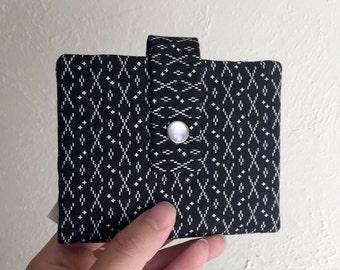 Schwarz / weiß Drucken Wallet - Midsize Cash und Card Wallet mit Änderung Beutel-