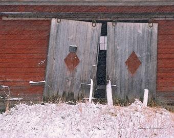 Barn Doors. Jericho, Center, Vermont