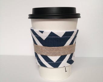 Navy and Gold Drink Sleeve