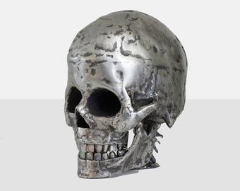 dorrance hill 'skull' sculpture, dorrance hill art, human skull sculpture, human skull art, human skull, skull art, folk art sculpture, art