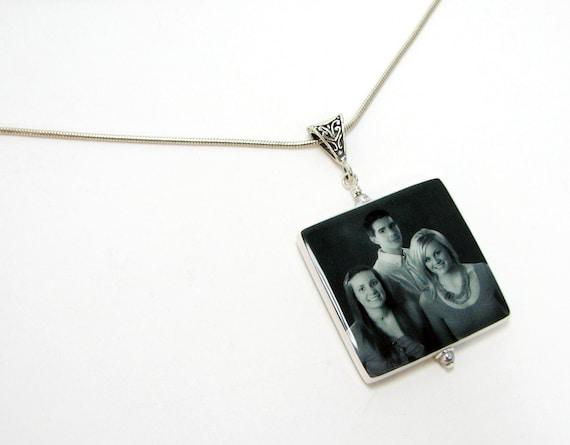 Photo Pendant Keepsake Necklace - P1fN
